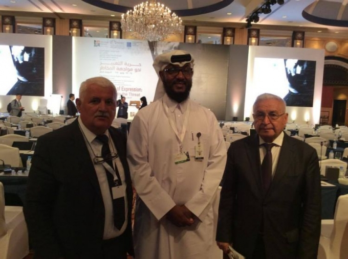 "Qatar hosts international conference on ""Freedom of Expression: Facing Up to the Threat"" - IEPF president attends the event"