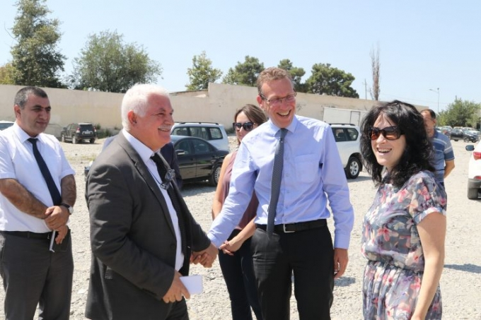 Representatives from the EU Delegation together with the IEPF visit Tartar and Barda regions of Azerbaijan