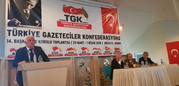 The IEPF President attends the 14th meeting of the Confederation of Turkish Journalists