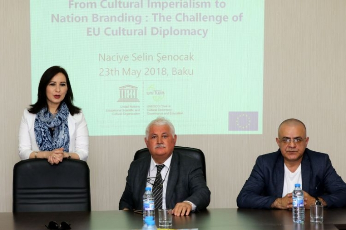 Chair Holder of UNESCO Cultural Diplomacy Selin Senocak held an open lecture in the IEPF office