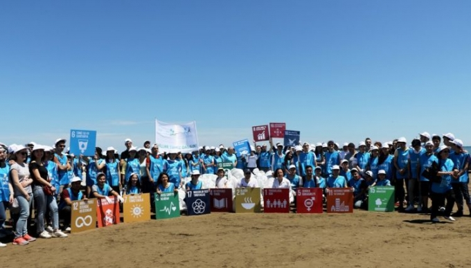 """Activists cleaned up Buzovna beach - """"Let's keep beaches clean"""" - PHOTO"""